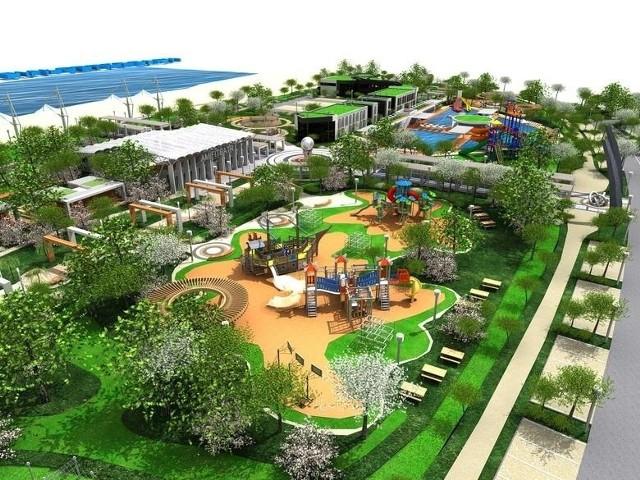 Koncepcja zagospodarowania zakłada między innymi budowę placów zabaw, alejek i amfiteatru. W pierwszej kolejności musi jednak powstać wał przeciwpowodziowy nad Pilicą.