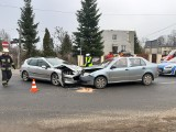 Wypadek w Andrespolu. Zderzyły się dwa samochody, jedna osoba została ranna ZDJĘCIA