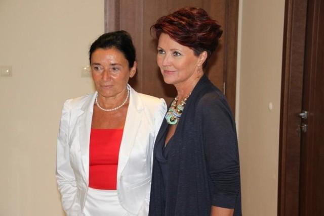 Prof. Alicja Chybicka i Jolanta Kwaśniewska.