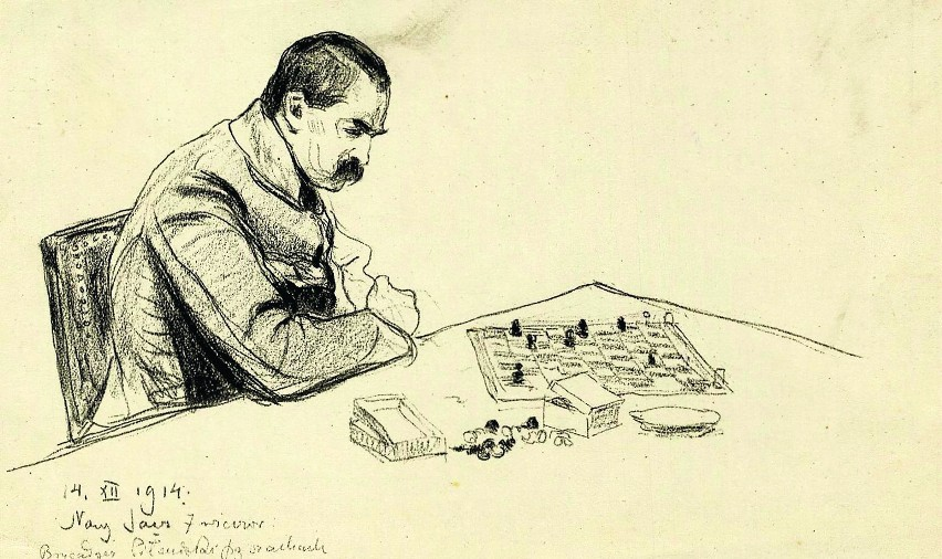 Znalezione obrazy dla zapytania józef piłsudski szachy
