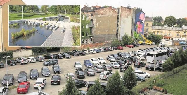 Czy na tyłach biblioteki powstanie park, który będzie miał pod spodem parking? Na małym zdjęciu - tak to wygląda w Holandii