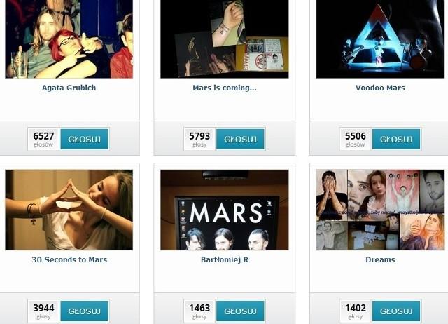Plebiscyt biletowy na koncert 30 Seconds to Mars - wyniki aktualne na 7 kwietnia godz. 12:00 miejsca od 7 do 12.