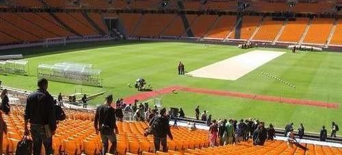 Tak wyglądały przygotowania do ceremonii otwarcia mistrzostw na Soccer Stadium w Johannesburgu