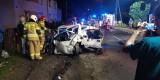 Wypadek w Gaszowicach. Pijany 17-latek stracił panowanie nad pojazdem. Uderzył w dwa inne samochody