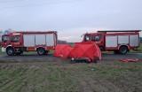 Wypadek w Koninie - nie żyje kierowca motoroweru, który zderzył się z ciężarówką