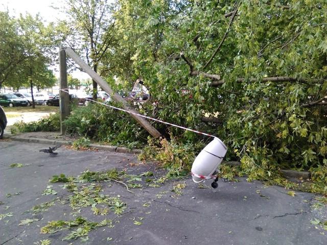 Burze w Wielkopolsce: Wciąż 37 tysięcy odbiorców bez prądu