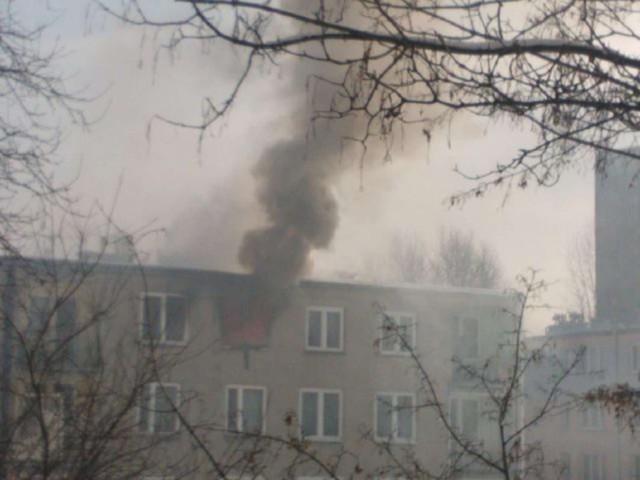 Pożar w Będzinie na Syberce