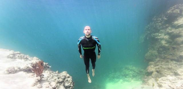Mateusz Malina potrafi zejść, bez tlenu, na głębokość 114,5 metra