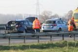 Dachowanie na autostradzie A4. Utrudnienia pod Wrocławiem