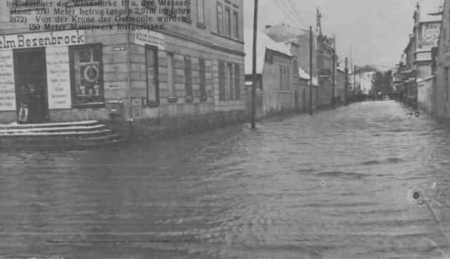 Świnoujście po sztormie - 1913 r.