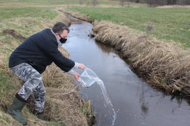 Pstrąg trafił do rzek. Wędkarze zebrali też mnóstwo śmieci.