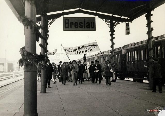 Dworzec Świebodzki w czasach Breslau, większość zdjęć pochodzi z lat 30 XX wieku.