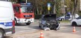 Groźny wypadek na skrzyżowaniu w centrum Kielc. Jedna osoba w szpitalu [ZDJĘCIA]
