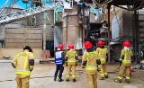 Pożar na terenie magazynów zboża w Głobinie. Zniszczona instalacja, spalone zboże  (ZDJĘCIA)