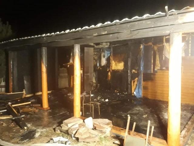 Pożaru budynku drewnianego pod Przysuchą.
