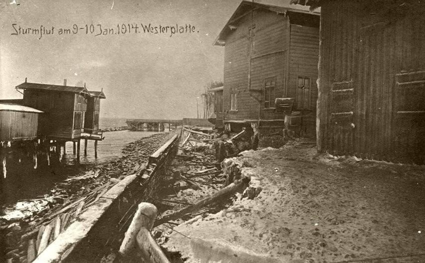 Po sztormie - Westerplatte w 1914 r.