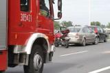 Pożar busa na S8. Są utrudnienia dla kierowców