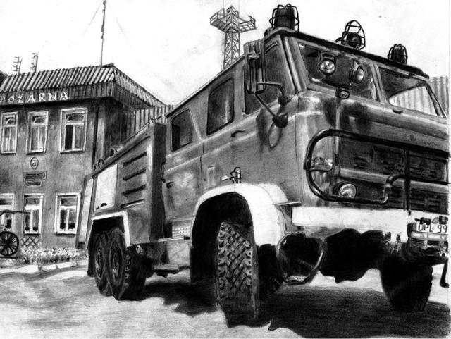 Tematyka prac Piotra Pikora dotyczy między innymi straży pożarnej.