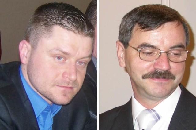 Wojciech Bandurowski (z lewej) startuje jako kandydat niezależny, ale należy do kilku organizacji biznesowych, m.in. do stowarzyszenia Rycerze Biznesu. Franciszek Fejdych jest szefem powiatowej organizacji PO.