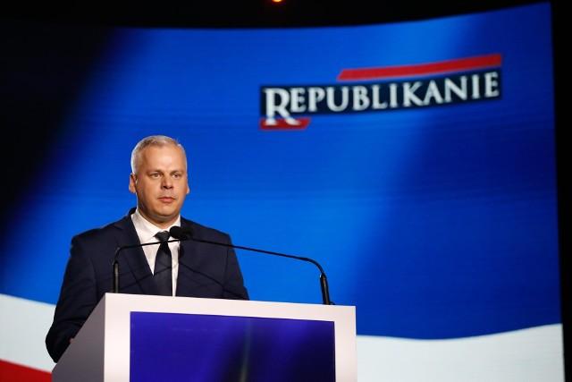 Karol Rabenda podczas pierwszej konwencji Partii Republikańskiej
