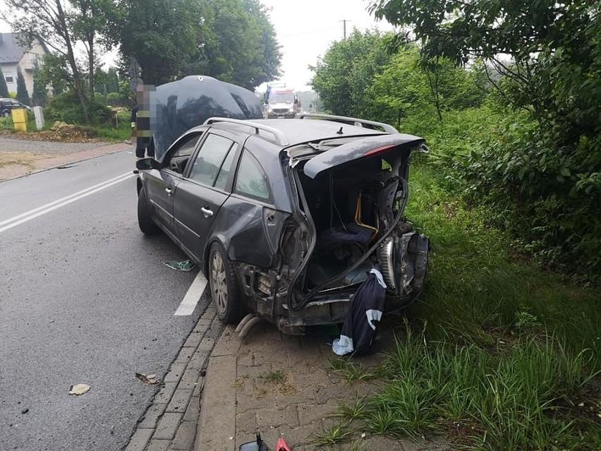 Wypadek w Niesułowicach
