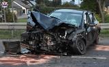 Radzyń Podlaski: Osobówka zderzyła się z ciężarówką. Pięć osób zostało rannych
