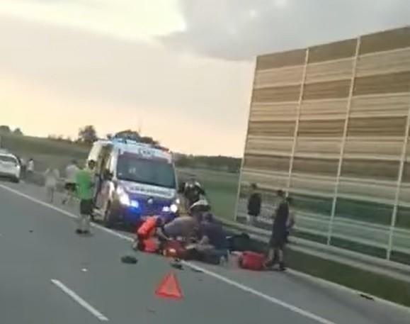 Śmiertelny wypadek motocyklisty na autostradzie A1....
