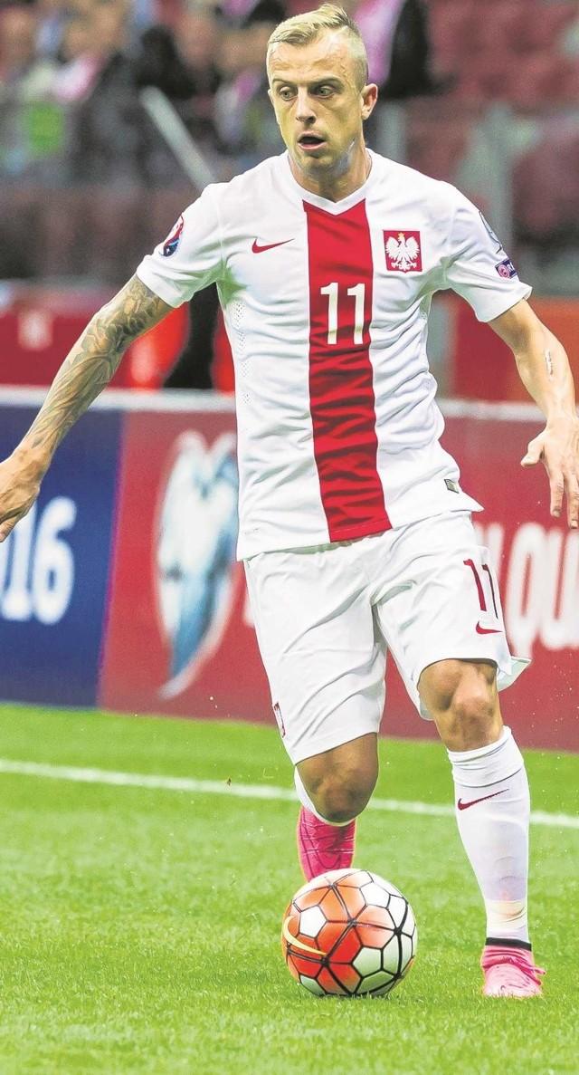 Kamil Grosicki występuje w reprezentacji Polski od 2008 roku