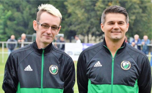 Jarosław Płonka (z prawej) spędził w Jawiszowicach blisko sześć lat. Przez cały ten czas miał oparcie w kierowniku Łukasz Garlickim.
