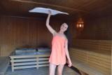 Gorący seans z mistrzynią saunowania w aquaparku Fala [zdjęcia, FILM]