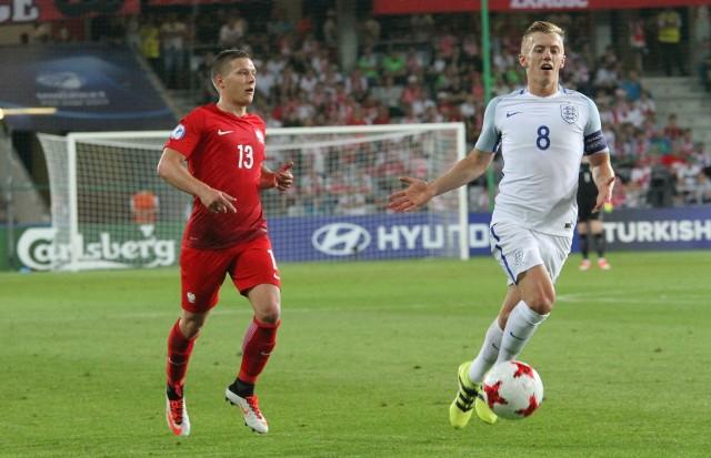 Łukasz Moneta (z lewej) zagrał przeciwko Anglii tylko w pierwszej połowie.