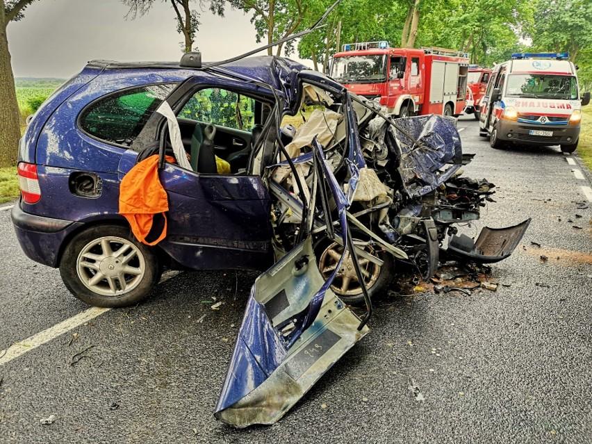 - Kierowca poniósł śmierć na miejscu - informują strażacy z...