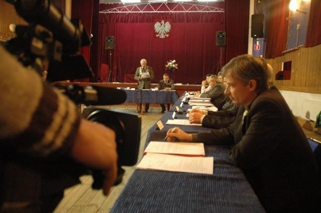 Sesja rady miejskiej w Praszce