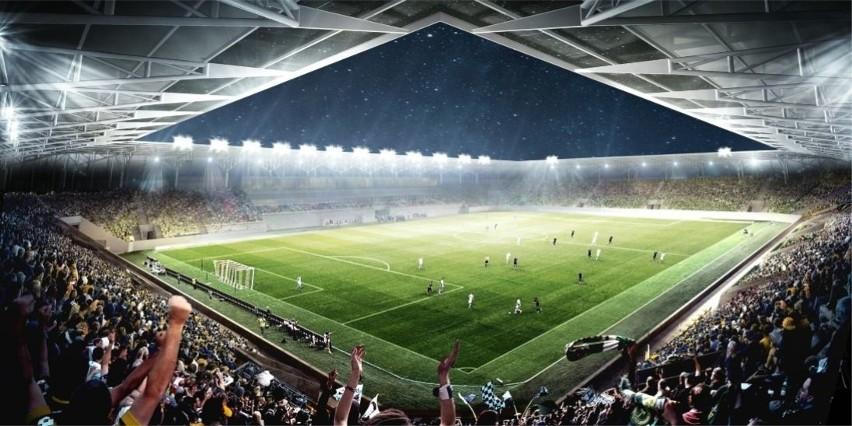 Nowy stadion przy ul. Północnej w Opolu - wizualizacja