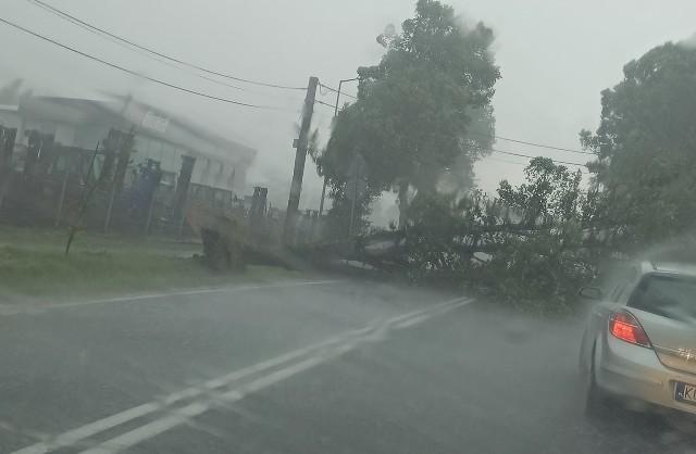 Sobota (17 lipca 2021). Skutki burzy nad Małopolską zachodnią