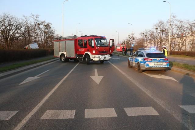 Wypadek na drodze Wrocław - Kłodzko. Zdjęcie ilustracyjne