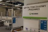Szpital tymczasowy w Pyrzowicach działa od dziś. Pacjentów będzie można przenosić do innych szpitali transportem lotniczym