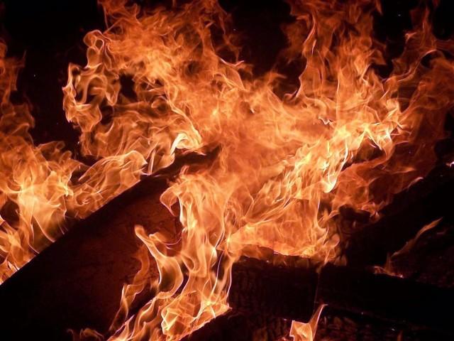 Pożar w miejscowości Niećkowo wybuchł o godz. 17.24