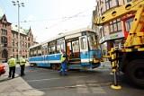 Wykolejenie tramwaju w centrum. Wprowadzono objazdy