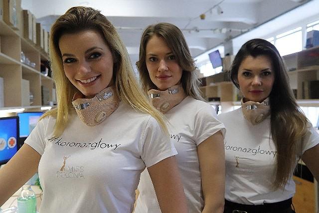 Ekipa #KORONAZGŁOWY zdjęła maseczki tylko do zdjęcia. Od lewej: Karolina Bielawska, Iwetta Baran i Barbara Tatara-Kacperska.
