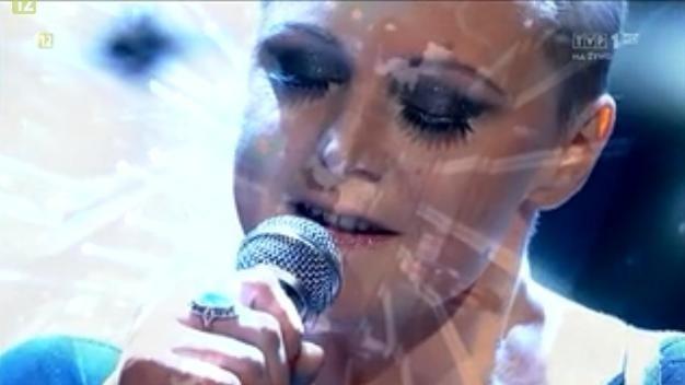 Natalia Sikora podczas występu w Opolu.