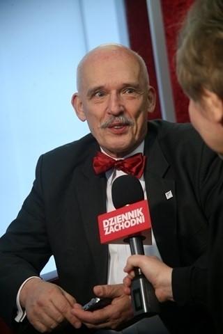 Janusz Korwin-Mikke w studiu Dziennika Zachodniego
