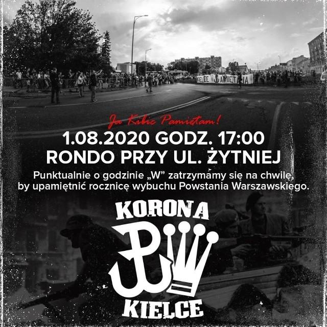 Kibice Korony pamiętają o wybuchu powstania warszawskiego