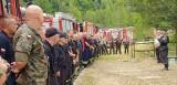 Strażacy z powiatu lublinieckiego ćwiczyli w leśnictwie Kalina