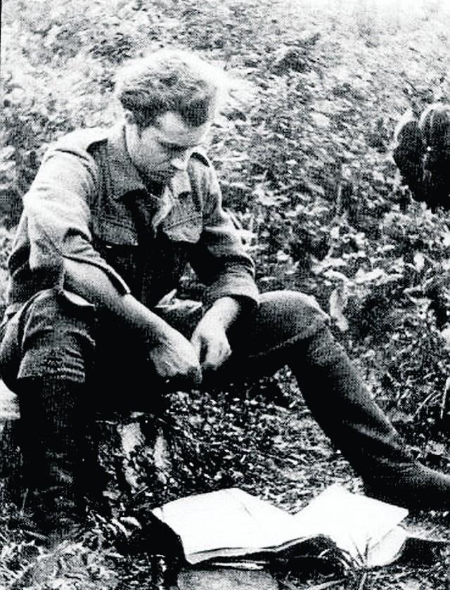 """Stefan Bembiński """"Harnaś"""", zdjęcie z 1945 roku"""