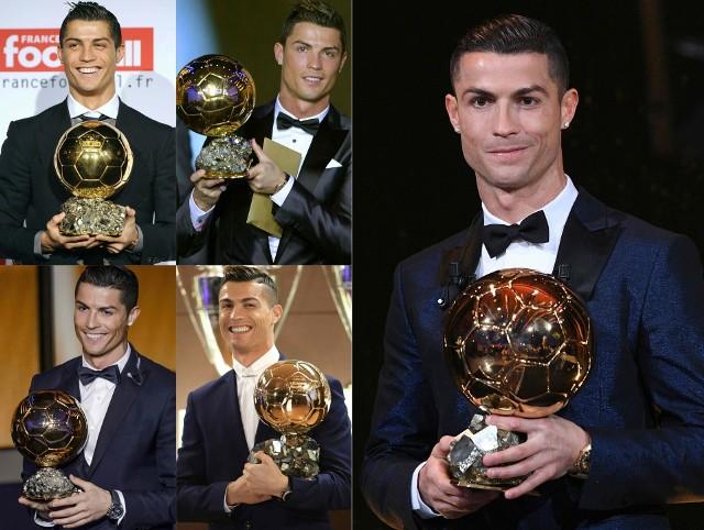 Cristiano Ronaldo odebrał kolejną Złotą Piłkę