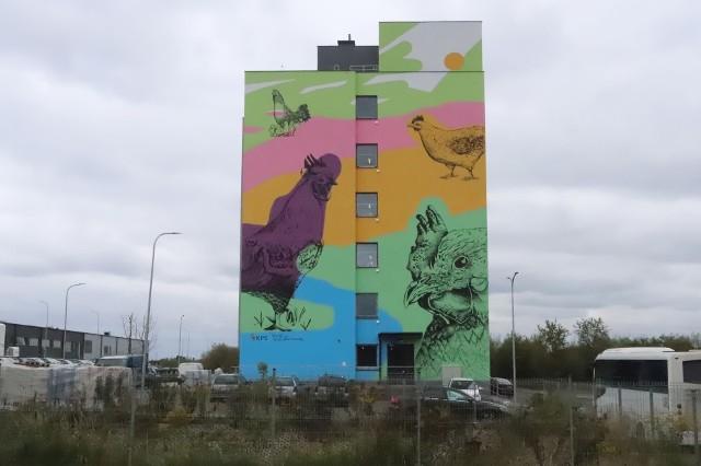 W Radomiu powstał nowy mural. Mieści się on na ścianie hotelu pracowniczego przy ulicy Energetyków w Radomiu.