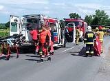 Koszmarny wypadek w Bukowie. 11-letni chłopiec wpadł pod koła ciężarówki. Kierowca odjechał, bo nie poczuł, że kogoś przejechał