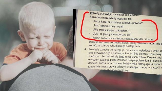 """W książce Tedda Trippa """"Pasterz serca dziecka"""" z najdują się m.in. opisy, jak należy wymierzać kary cielesne swoim dzieciom czy też opisy kar, które były stosowane na ośmiomiesięcznym niemowlęciu."""