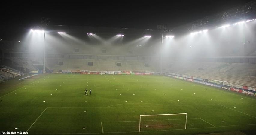 Budowa Stadionu Górnika Zabrze Nowe Oświetlenie I